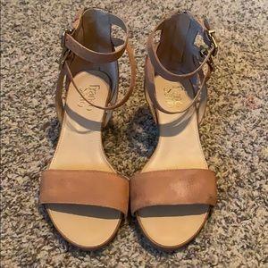 Franco Sarto Tan Wedge Sandals